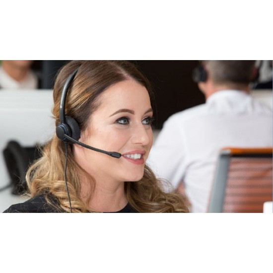 TruVoice HD-100 Monaural Noise Canceling Headset Including QD Cable for Yealink Phones