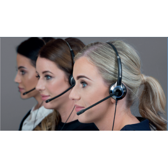 TruVoice HD-500 Monaural Noise Canceling Headset Including QD Cable for Polycom VVX and SoundPoint Models of Telephone