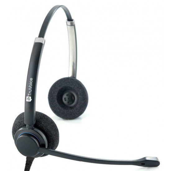 TruVoice HD-150 Binaural Noise Canceling Headset Including USB Adapter Cable