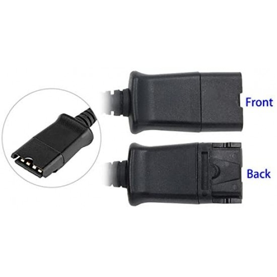 USB Adapter Cable (with volume control and mute) for TruVoice and Plantronics QD Headsets