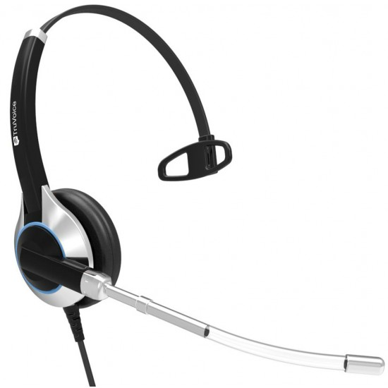 TruVoice HD-300 Monaural Voice Tube Headset Including USB Adapter Cable