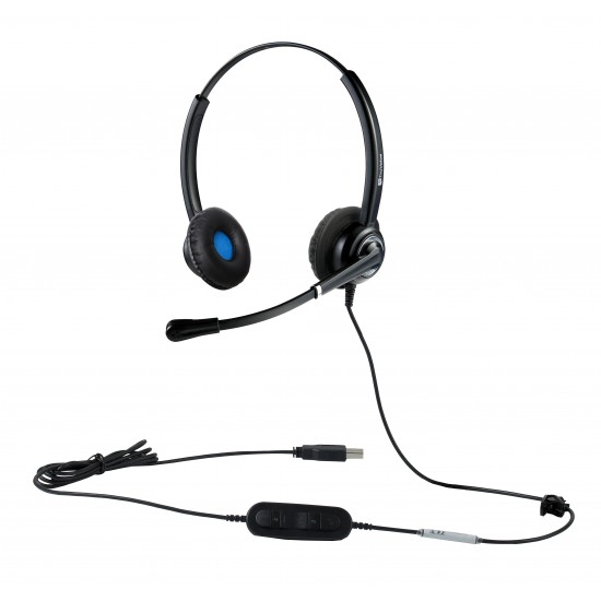 VoicePro 20 Double Ear USB Headset with Call Control