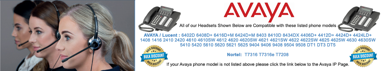 Avaya Digital / Nortel Headsets