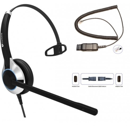 TruVoice HD-500 Monaural Noise Canceling Headset Including QD Cable for Avaya IP Phones