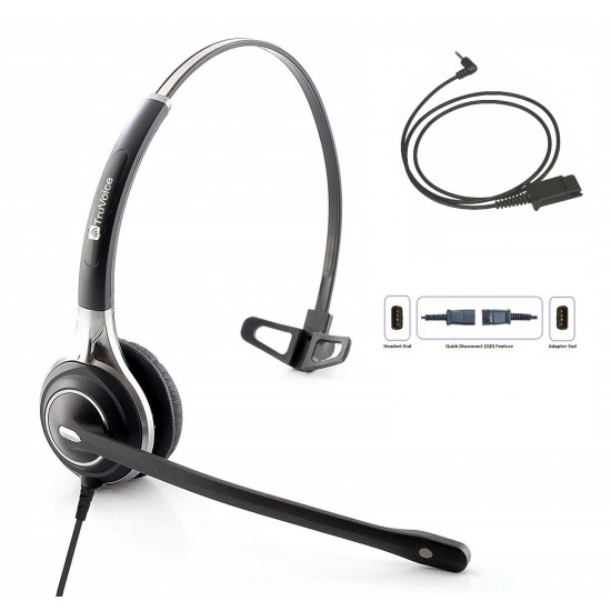 TruVoice HD-700 Monaural Noise Canceling Headset Including QD Cable for Cisco SPA Phones