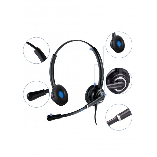 VoicePro 40 Double Ear USB / 3.5mm Headset with Call Control